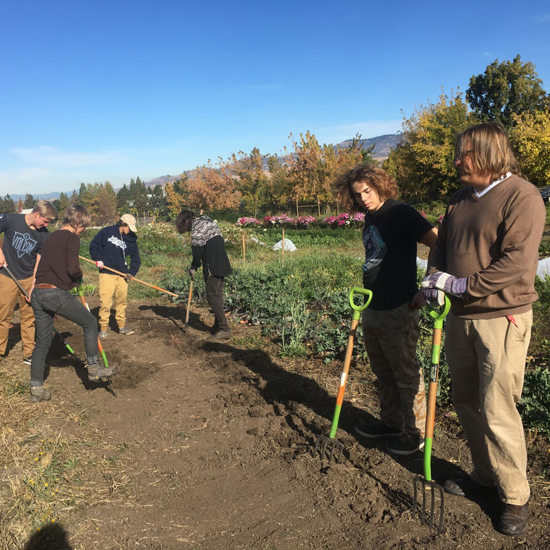 SOU Farm School Group Learning Sustainability Southern Oregon University